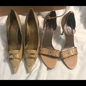 2 Pair of Tan Ladies Heels $45
